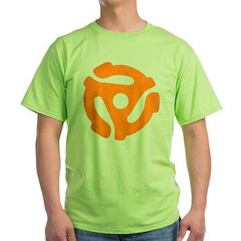 Orange Distressed 45 RPM Adapter Light T-Shirt