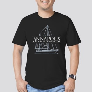 Annapolis Sailboat - Men's Fitted T-Shirt (dark)