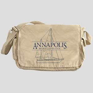 Annapolis Sailboat - Messenger Bag