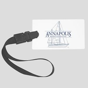 Annapolis Sailboat - Large Luggage Tag