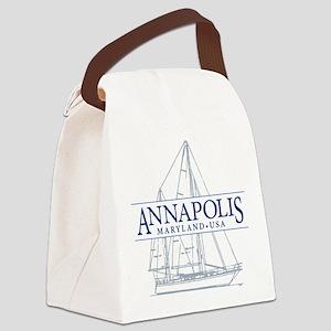 Annapolis Sailboat - Canvas Lunch Bag