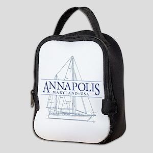 Annapolis Sailboat - Neoprene Lunch Bag
