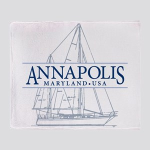 Annapolis Sailboat - Throw Blanket