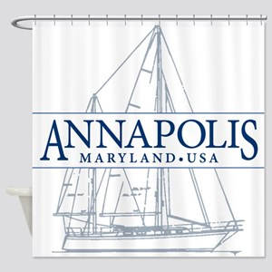 Annapolis Sailboat - Shower Curtain