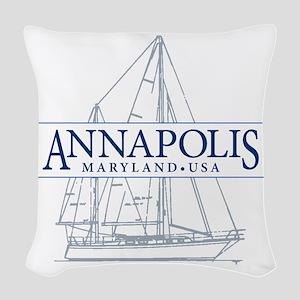 Annapolis Sailboat - Woven Throw Pillow