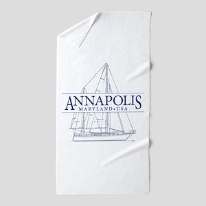 Annapolis Sailboat - Beach Towel