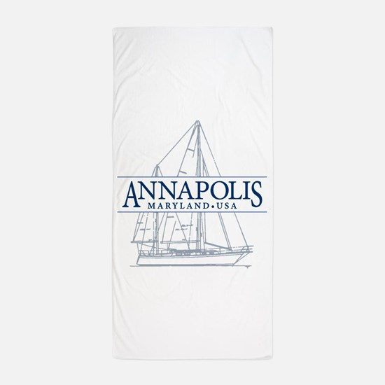 Annapolis Sailboat - Beach Towel