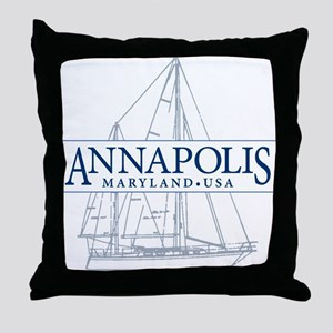 Annapolis Sailboat - Throw Pillow