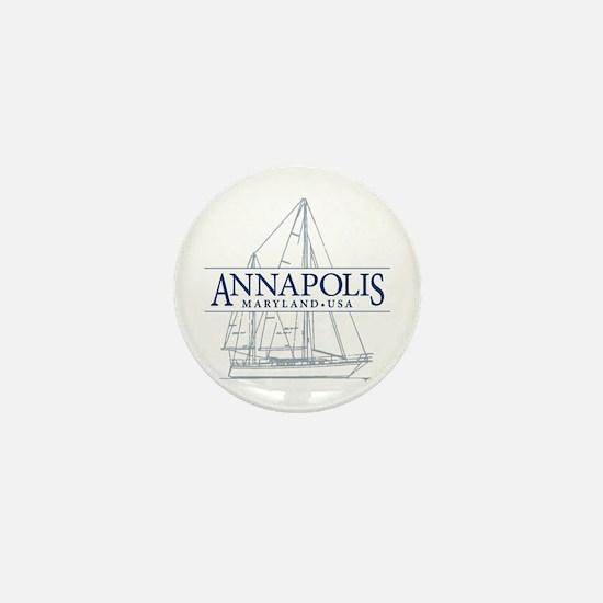 Annapolis Sailboat - Mini Button