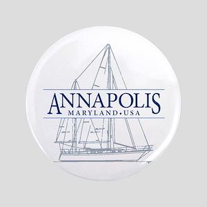 "Annapolis Sailboat - 3.5"" Button"