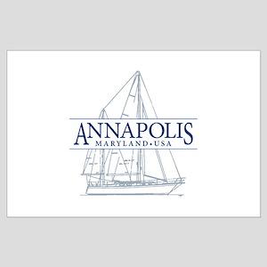 Annapolis Sailboat - Large Poster