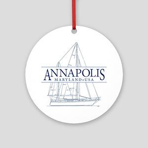 Annapolis Sailboat - Ornament (Round)
