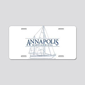 Annapolis Sailboat - Aluminum License Plate