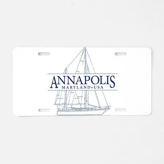 Annapolis Sailboat - Aluminum License Plate