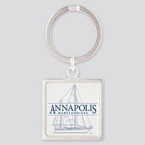 Annapolis Sailboat - Square Keychain