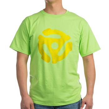 Yellow Distressed 45 RPM Adapter Light T-Shirt