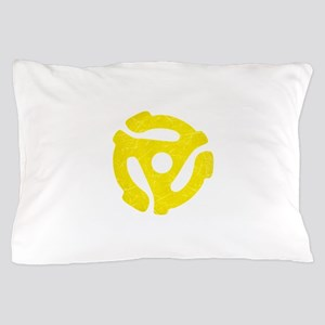 Yellow Distressed 45 RPM Adapter Pillow Case