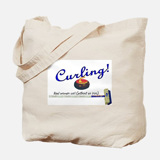 Curling! Real women curl (without an iron). Tote B