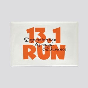 13.1 Run Orange Rectangle Magnet