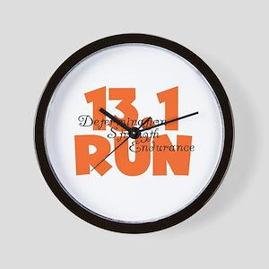 13.1 Run Orange Wall Clock