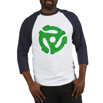 Green Distressed 45 RPM Adapter Baseball Jersey
