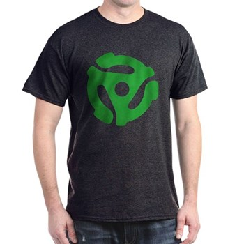 Green Distressed 45 RPM Adapter Dark T-Shirt