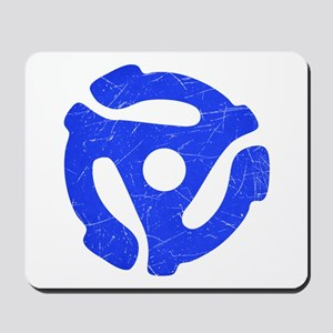 Blue Distressed 45 RPM Adapte Mousepad