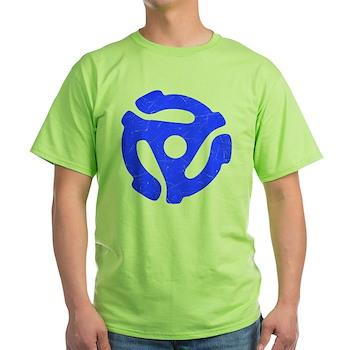 Blue Distressed 45 RPM Adapter Light T-Shirt