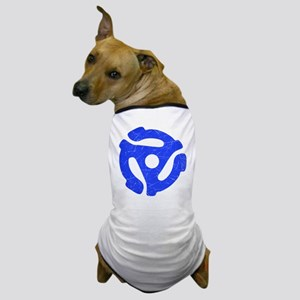 Blue Distressed 45 RPM Adapter Dog T-Shirt