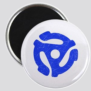 Blue Distressed 45 RPM Adapter Magnet