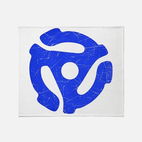 Blue Distressed 45 RPM Adapter Stadium Blanket