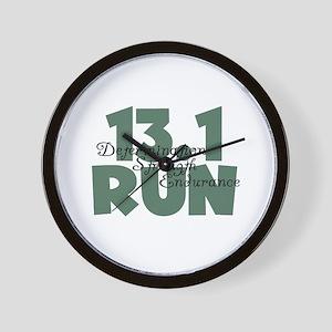 13.1 Run Teal Green Wall Clock
