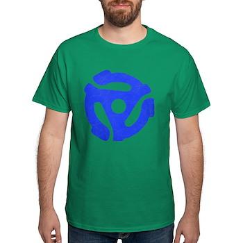 Blue Distressed 45 RPM Adapter Dark T-Shirt