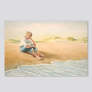 Woman on the Beach Postcards (Package of 8)