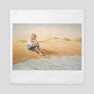 Woman on the Beach Queen Duvet