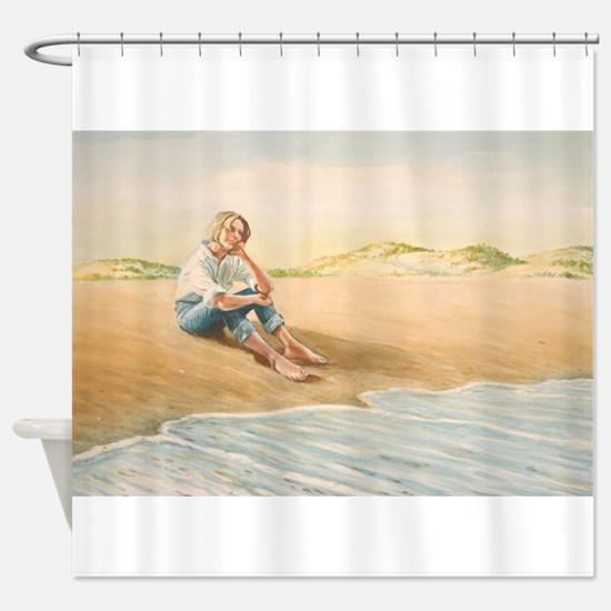 Woman on the Beach Shower Curtain