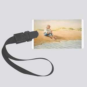 Woman on the Beach Luggage Tag