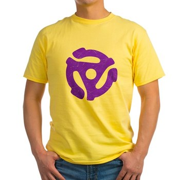 Purple Distressed 45 RPM Adapter Light T-Shirt