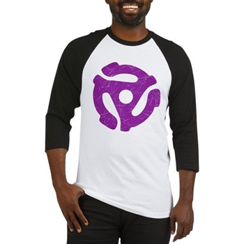 Purple Distressed 45 RPM Adapter Baseball Jersey