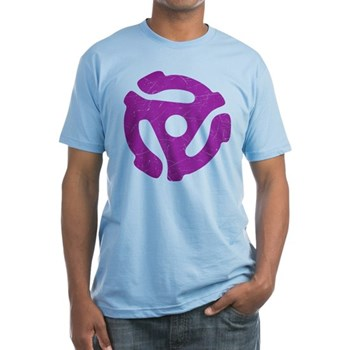 Purple Distressed 45 RPM Adapter Fitted T-Shirt
