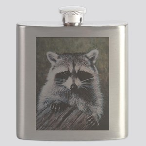 Raccoon Portrait Flask