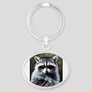 Raccoon Portrait Keychains