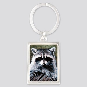 Raccoon Portrait Keychains