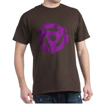 Purple Distressed 45 RPM Adapter Dark T-Shirt