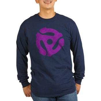 Purple Distressed 45 RPM Adapter Long Sleeve Dark