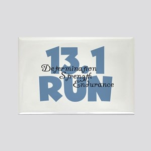 13.1 Run Blue Rectangle Magnet