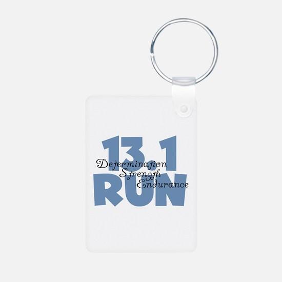 13.1 Run Blue Keychains