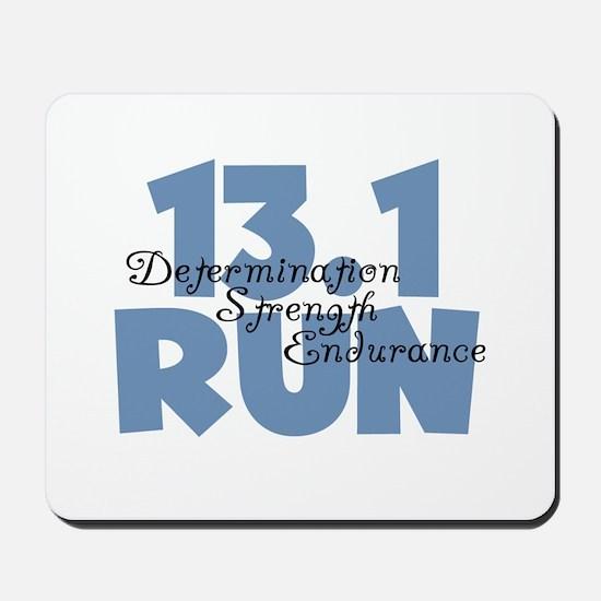 13.1 Run Blue Mousepad