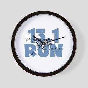 13.1 Run Blue Wall Clock