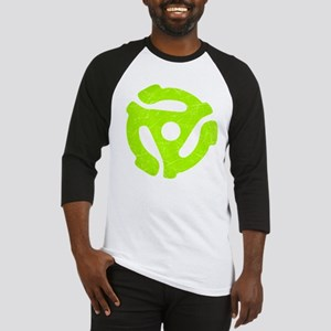 Lime Green Distressed 45 RPM Adapter Baseball Jers